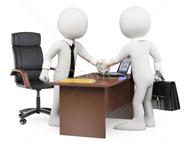 3D white people. Business deal Stock photo © texelart
