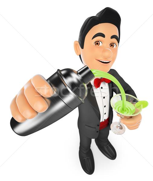 3D человека коктейль шейкер Сток-фото © texelart