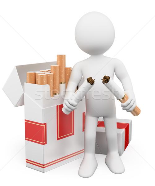 3D white people. No smoking Stock photo © texelart