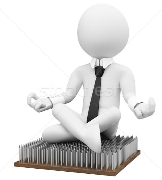 3D ビジネス 白の人々 メタファー 白 事業者 ストックフォト © texelart