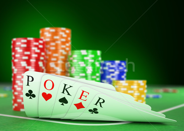 3D Casino. Poker concept Stock photo © texelart