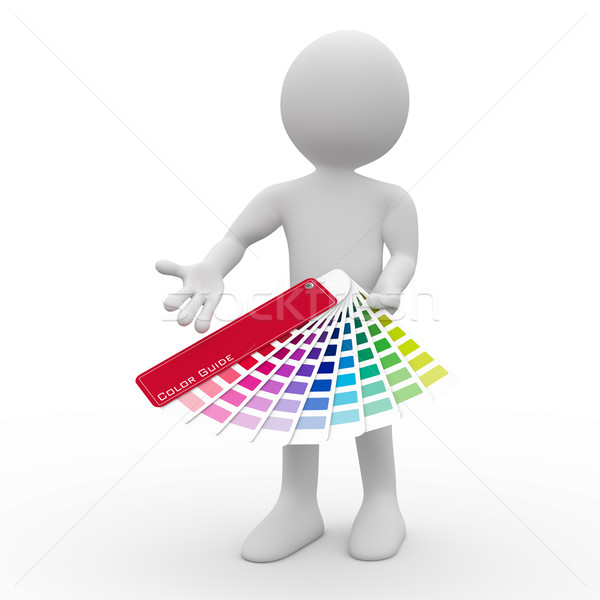 Graphic designer showing a color palette Stock photo © texelart