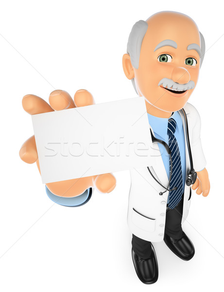 3D Doctor showing a blank card Stock photo © texelart