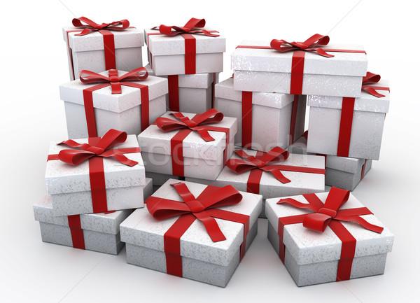 Daha fazla 3D Noel hediyeler render yüksek Stok fotoğraf © texelart