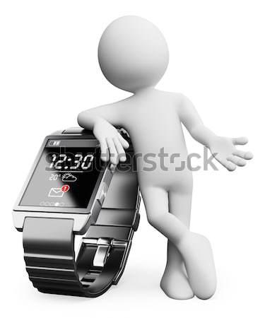 Foto stock: Hombre · grande · teléfono · móvil · prestados · alto