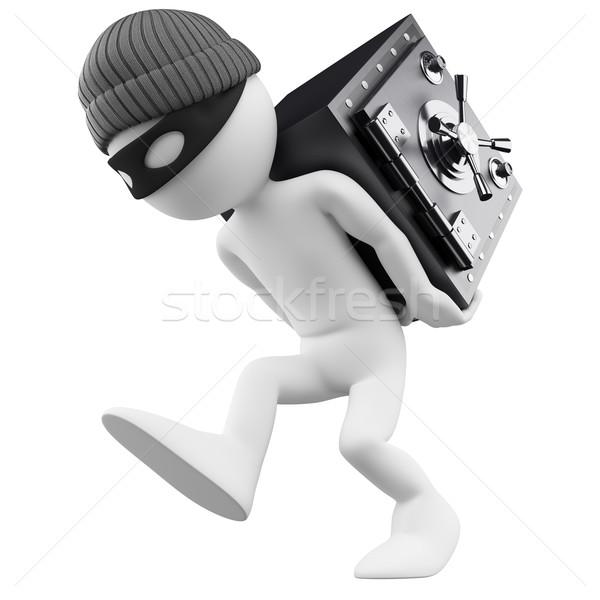 3D i bianchi banca rapinatore bianco persona Foto d'archivio © texelart