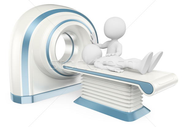 3D white people. Computed tomography. CT Stock photo © texelart