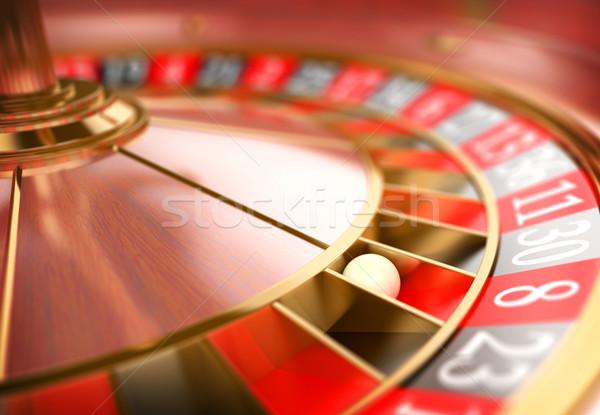 3D Casino roulette. Gambling concept Stock photo © texelart