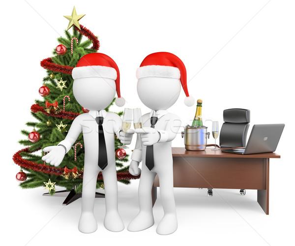 3D los blancos brindis oficina año nuevo Foto stock © texelart