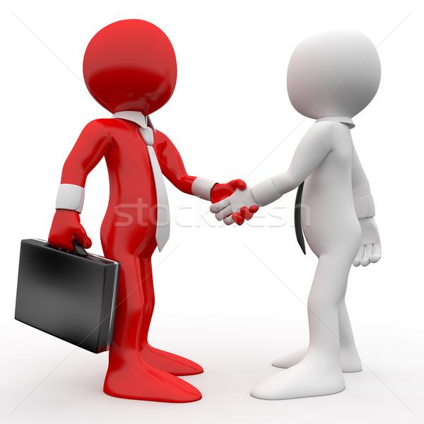 Foto stock: Homens · aperto · de · mãos · assinar · amizade · acordo · prestados