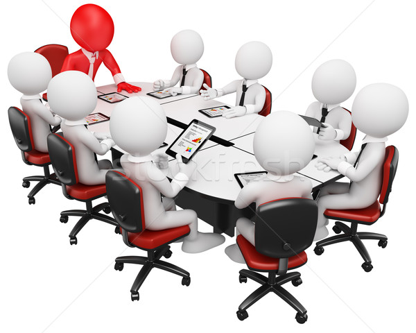 3D business white people. Business meeting Stock photo © texelart
