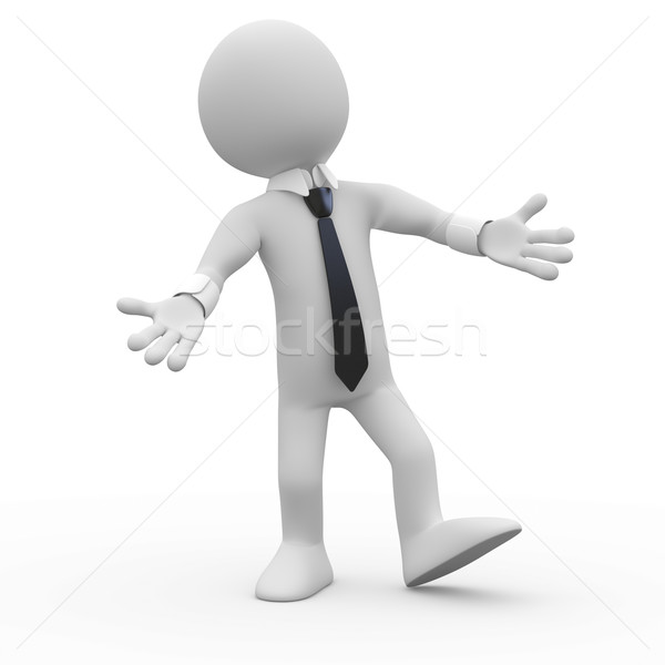 Businessman very happy, welcoming with open arms Stock photo © texelart