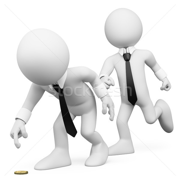 3D white people. Business trick Stock photo © texelart