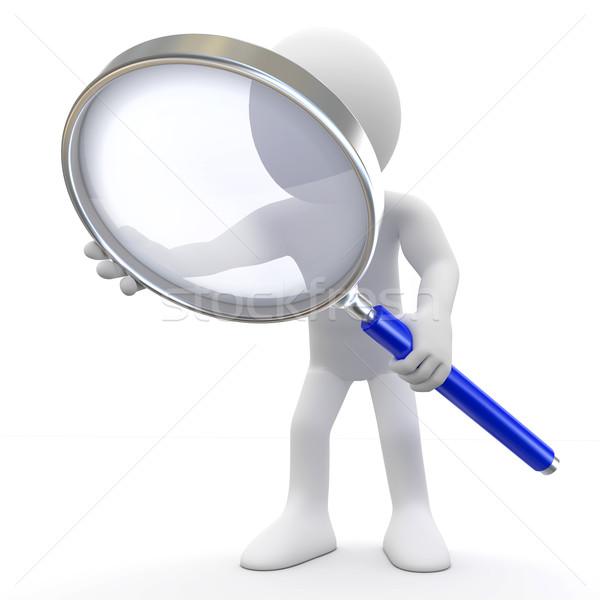 Stock photo: Man with magnifying glass