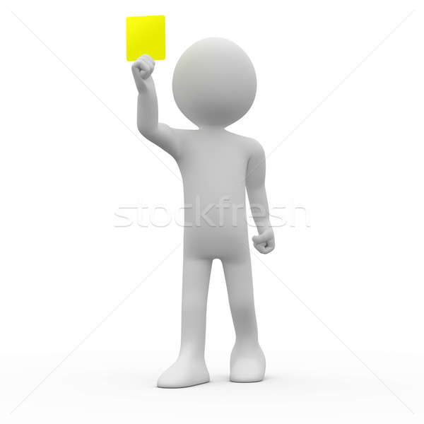 Referee showing yellow card Stock photo © texelart
