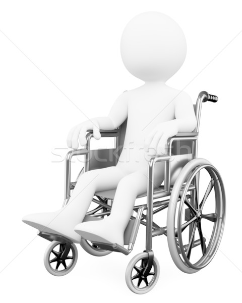 3D white people. Handicapped Stock photo © texelart