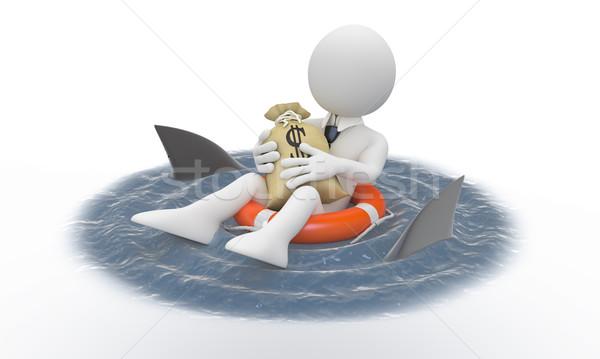 Empresário dinheiro prestados alto Foto stock © texelart