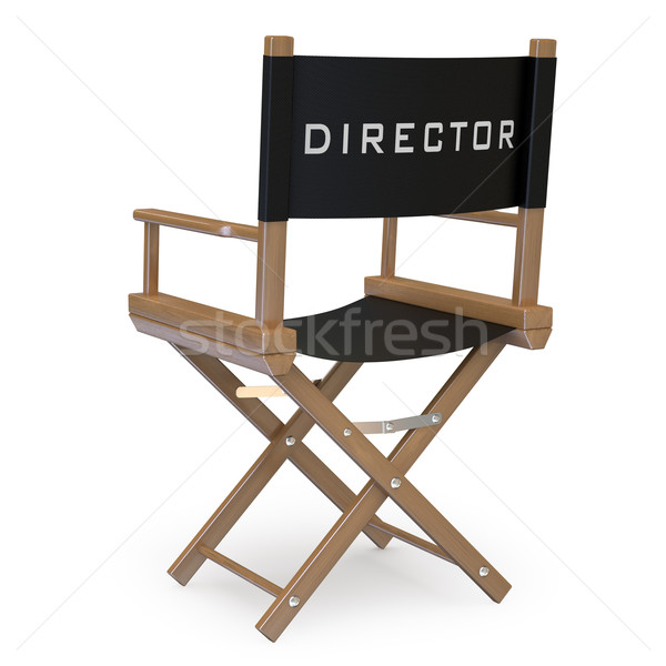 Stock photo: Film director's chair back view