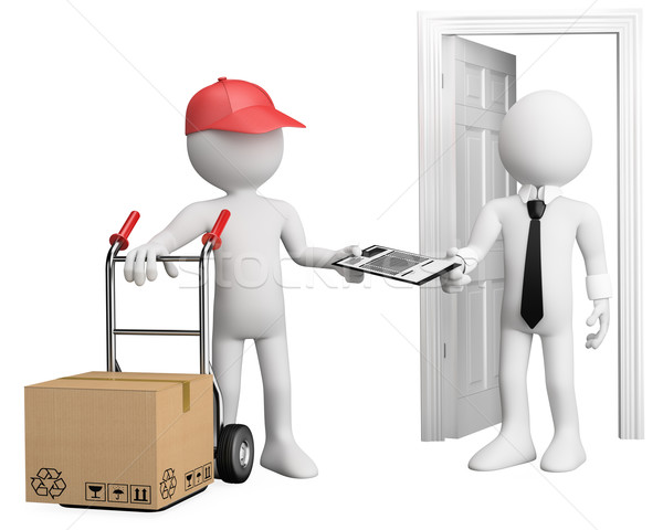 3D worker delivering a package Stock photo © texelart