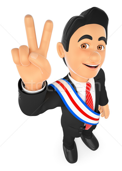 3D Political election winner. President Stock photo © texelart