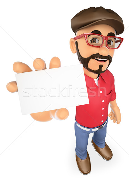 3D Film director showing a blank card Stock photo © texelart