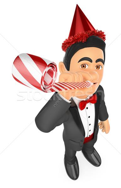 3D smoking man partij viering blazer Stockfoto © texelart
