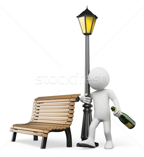 ストックフォト: 3D · 白の人々 · アルコール依存症 · 酔っ · 男