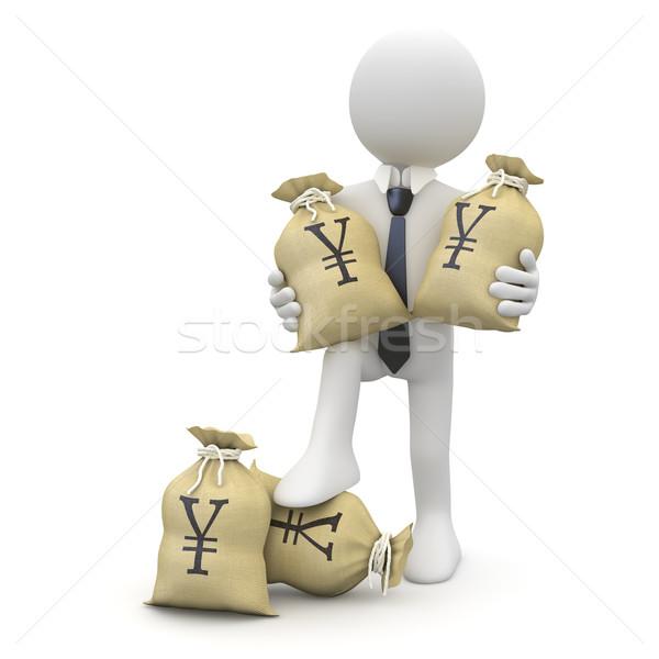 Businessman with bags of yenes Stock photo © texelart