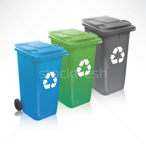Stock photo: Modern Recycle Bins