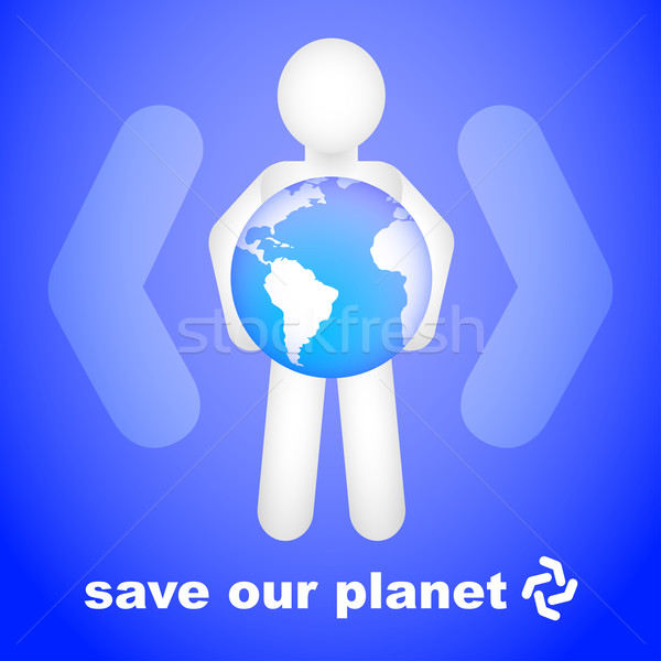 Kurtarmak gezegen dizayn soyut dünya barış Stok fotoğraf © TheModernCanvas