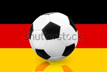 Realistic soccer football on German flag background. Stock photo © TheModernCanvas