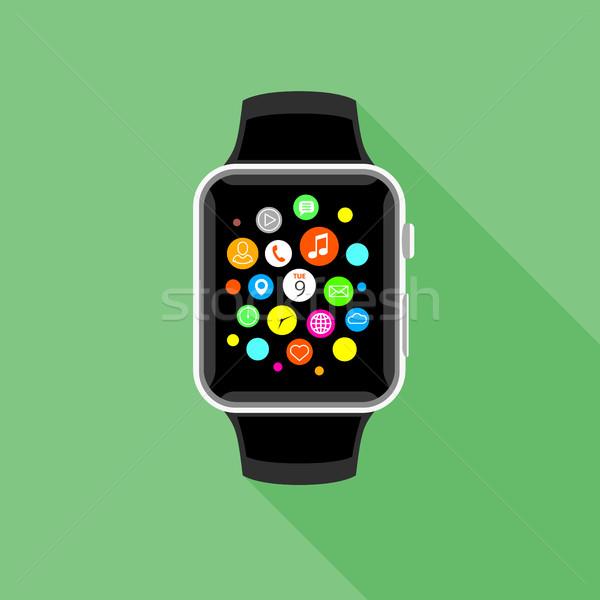 Trendi app ikonok zöld terv modern Stock fotó © TheModernCanvas