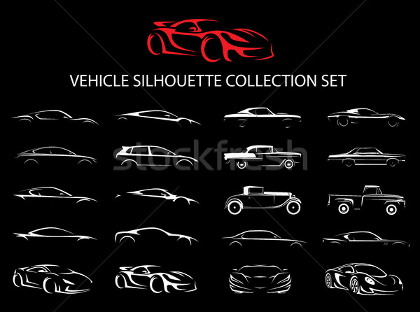 Düzenli araba araç siluet toplama ayarlamak Stok fotoğraf © TheModernCanvas