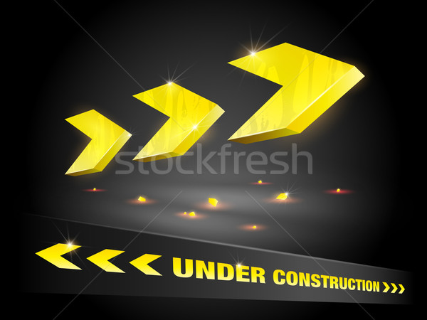 Stock fotó: építkezés · nyíl · eps10 · gradiens · átláthatóság · internet