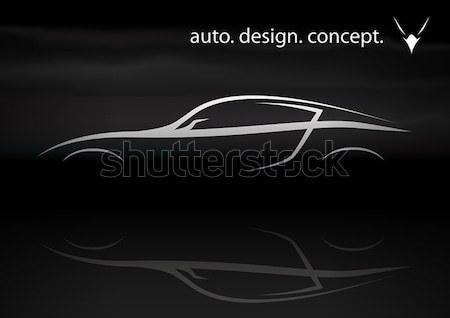 Sportok jármű sziluett klasszikus eps10 átláthatóság Stock fotó © TheModernCanvas