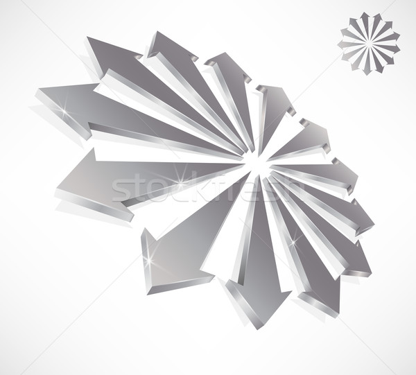 3D nyilak szimbolikus csapatmunka egység absztrakt Stock fotó © TheModernCanvas