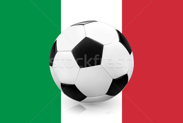 Gerçekçi futbol futbol futbol topu bayrak Stok fotoğraf © TheModernCanvas