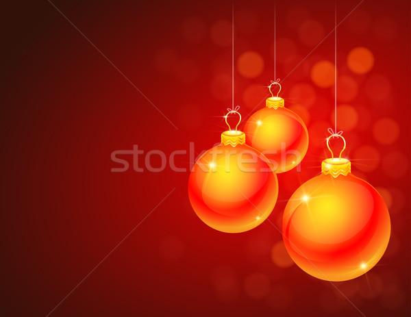 Piros karácsony háttér tapéta ünnep ünneplés Stock fotó © TheModernCanvas