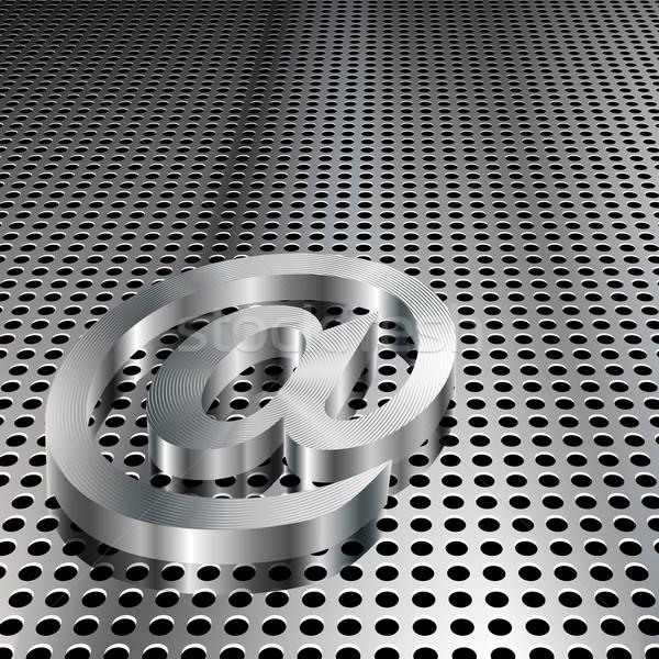 3D Metallic At Symbol Stock photo © TheModernCanvas