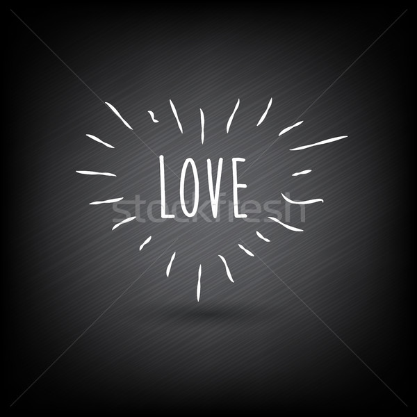 Soyut kalp sevmek karanlık ışık arka plan Stok fotoğraf © TheModernCanvas