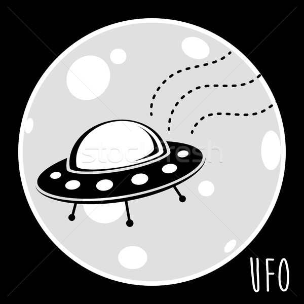 UFO (unidentified flying object). Flying saucer vector illustration Stock photo © TheModernCanvas