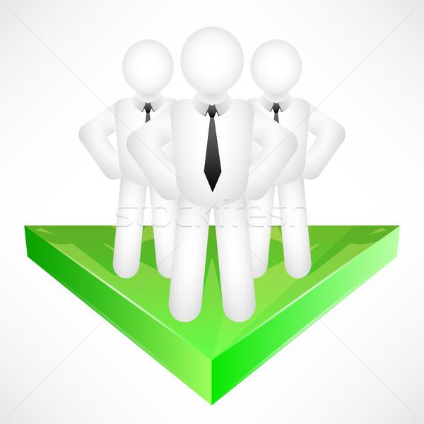 üzleti csapat nyíl férfiak háló zöld csapat Stock fotó © TheModernCanvas