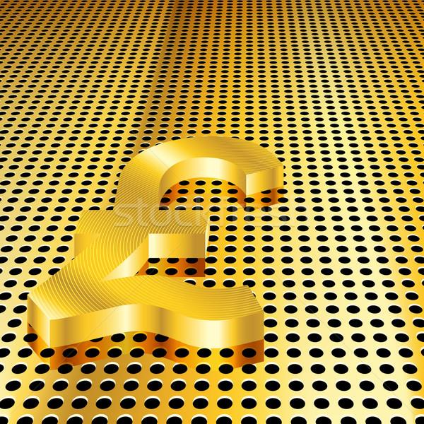 Altın pound eps10 eğim şeffaflık Stok fotoğraf © TheModernCanvas