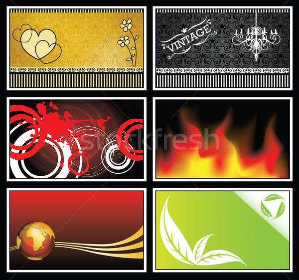 Detailed background card collection Stock photo © TheModernCanvas