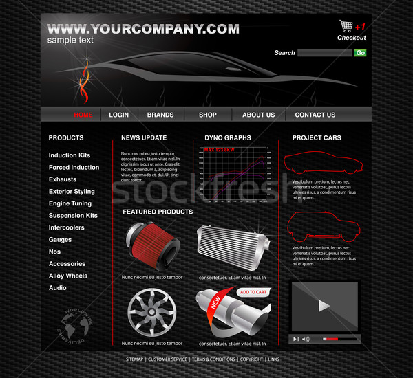 Voertuig tuning website snelheid wijziging business Stockfoto © TheModernCanvas