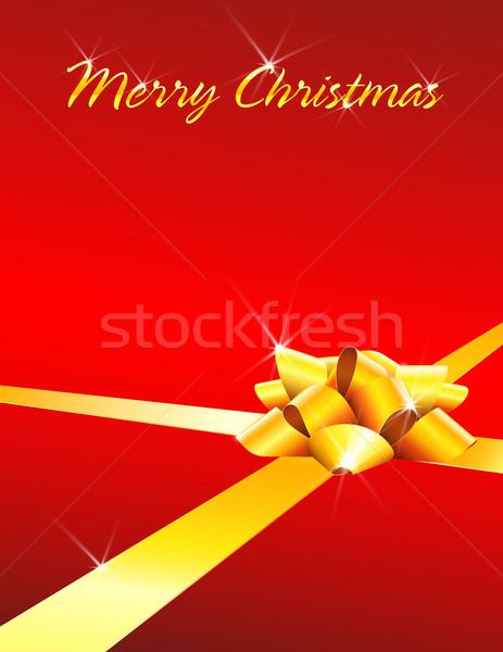 Vidám karácsonyi üdvözlet íj copy space absztrakt terv Stock fotó © TheModernCanvas