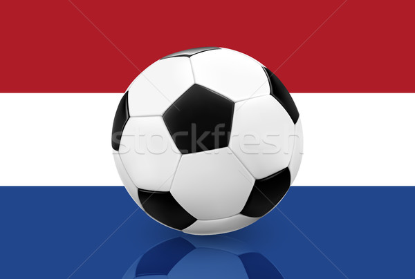 Realistic soccer football on Netherlands flag background. Stock photo © TheModernCanvas