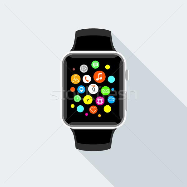 Trendi app ikonok terv modern okos Stock fotó © TheModernCanvas