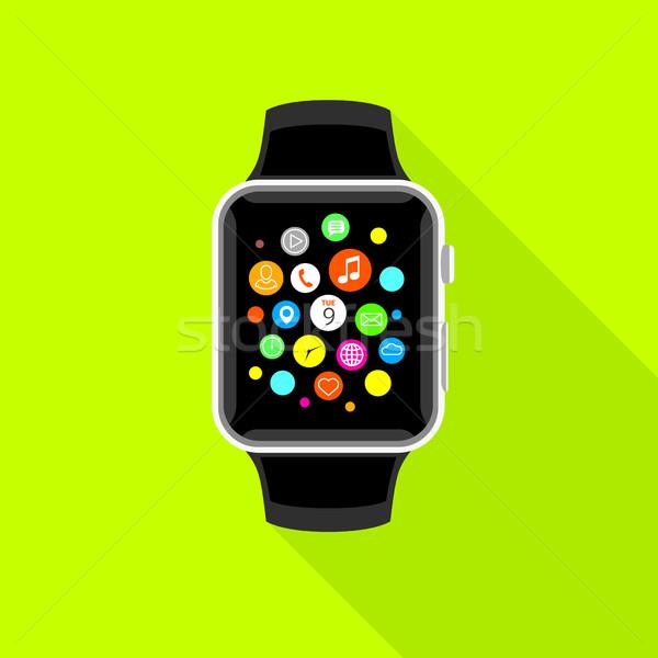 App icônes jaune design modernes Photo stock © TheModernCanvas