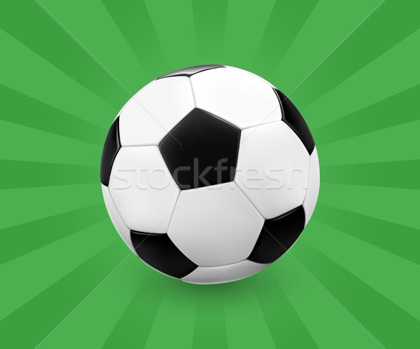 Soccer ball / football on green background with light rays. Stock photo © TheModernCanvas